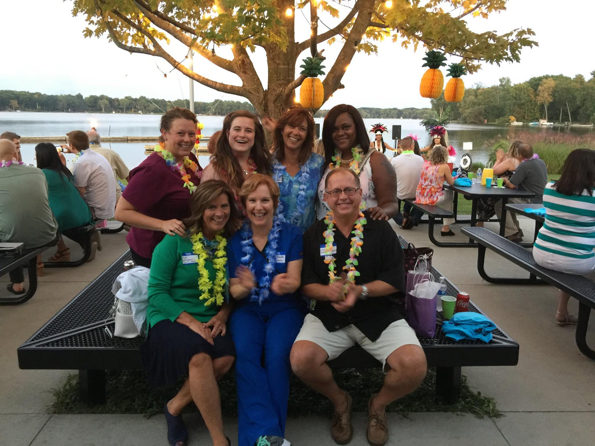 """Aloha! Dr. Papp, Dr. Leja and their team at Great Lakes Perio hosted a wonderful luau last week on Reed's Lake"