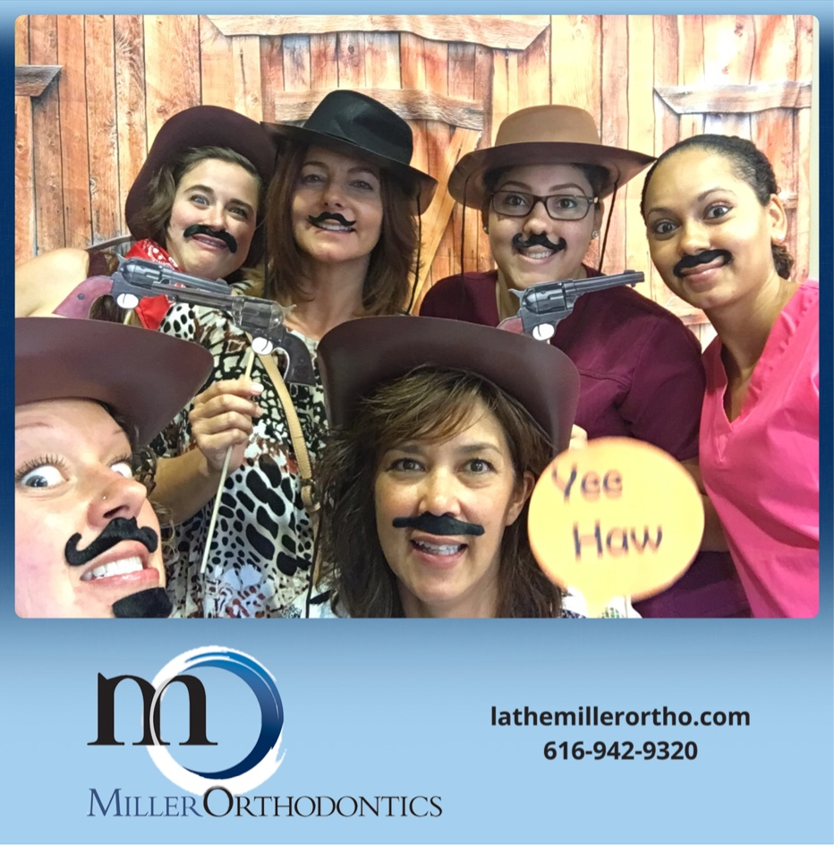 """A big ""Thank You"" to Miller Orthodontics for throwing one heck of a Hoedown! Though, we may have had too much fun with the photo booth!"""